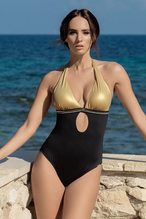 Madora Dámské jednodílné plavky Olympia černozlatá 44