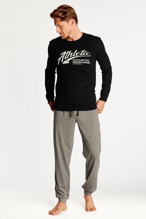 Pijama Optim, negru-gri