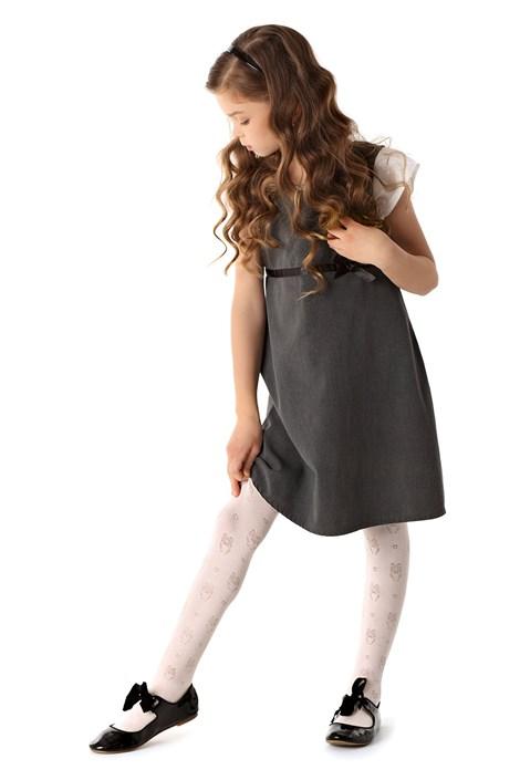 MONA Dívčí punčochové kalhoty Owl bílá 152/158