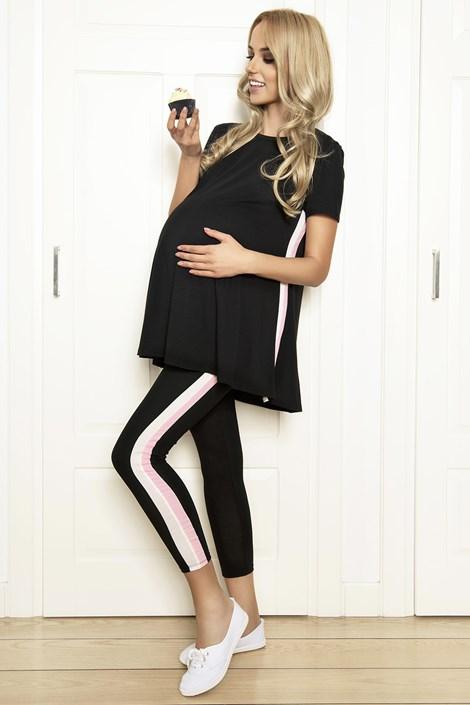 PIGEON Těhotenské pyžamo Beata černá XL
