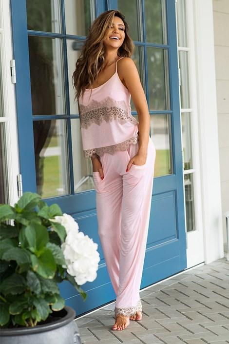 PIGEON Dámské elegantní  pyžamo Adell růžová XL
