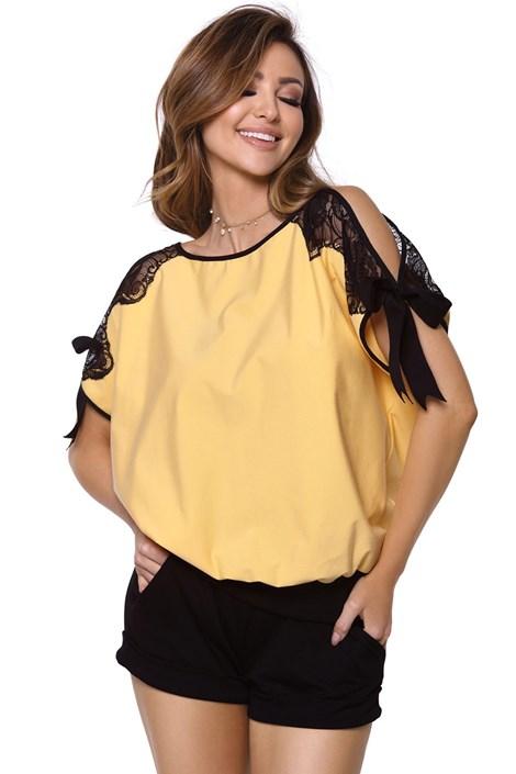 PIGEON Dámské pyžamo Chiara žluté žlutá XXL