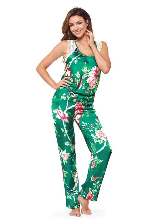 PIGEON Hedvábné dámské pyžamo Cloe zelená M