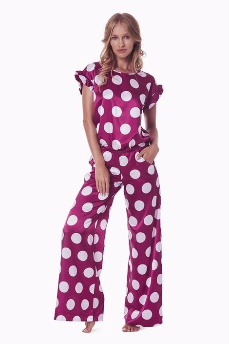 PIGEON Dámský pyžamový komplet Cleo bordo S