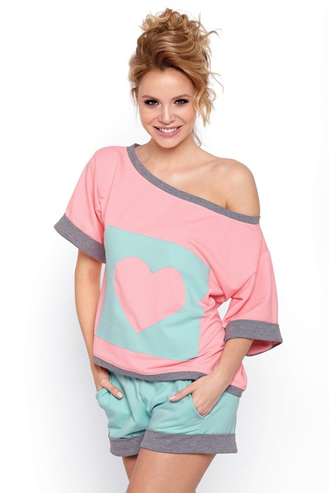 PIGEON Dámské pyžamo Natalia růžová L