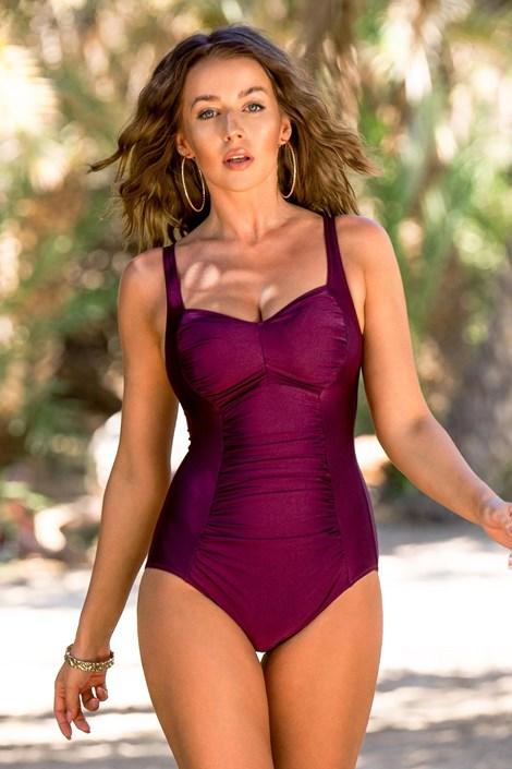 Dámské jednodílné plavky Chloe Grape