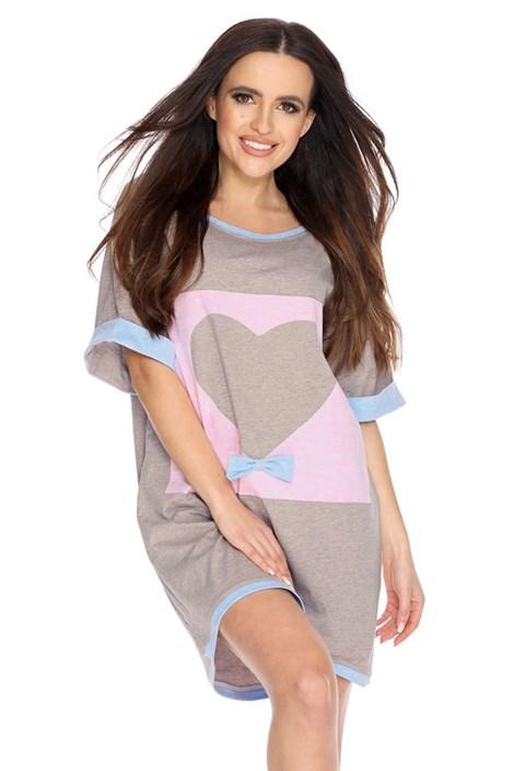 PIGEON Dámská noční košilka Anne světlehnědá XL