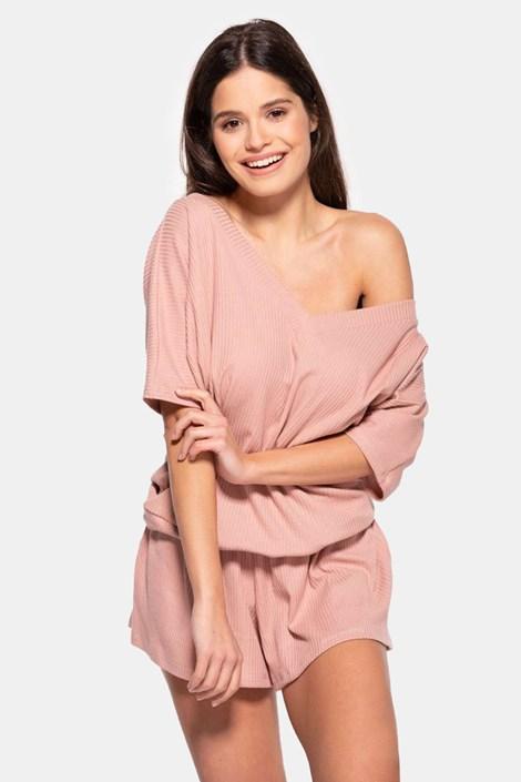Dámské bavlněné pyžamo Rose krátké