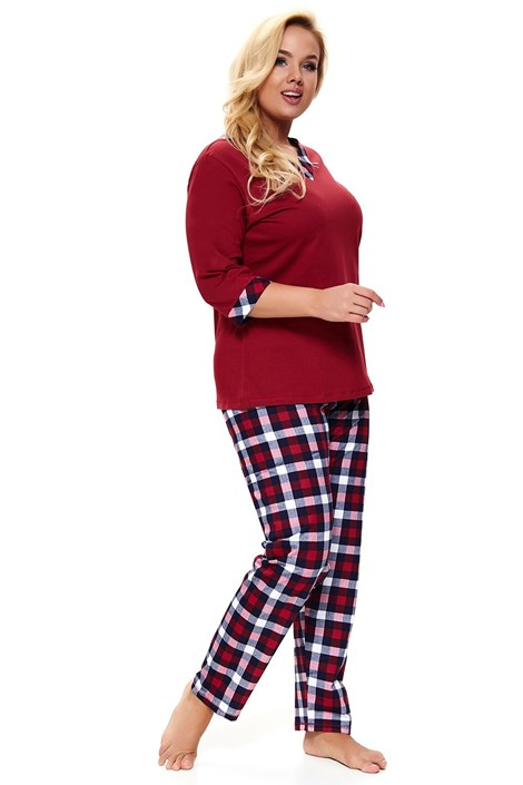 Doctor Nap Dámské pyžamo Lady in Red Plus size červená XXL