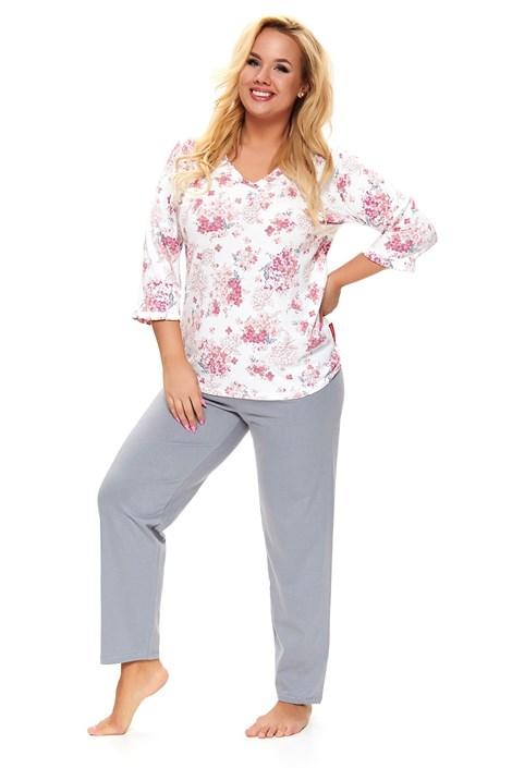 Doctor Nap Dámské plus size pyžamo Lovely bílá XXL