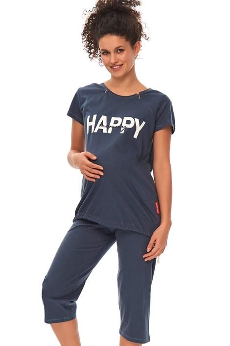 Dobra nocka Mateřské kojicí pyžamo Happy Mommy modré tmavěmodrá M
