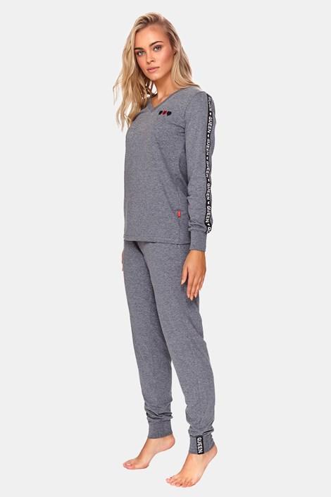Dámské pyžamo Queen šedé