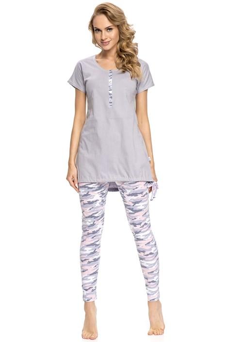Dobra nocka Dámské pyžamo Army Grey šedá L