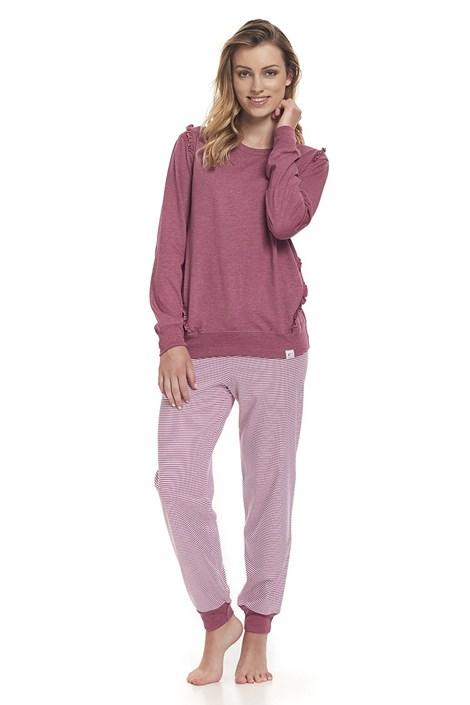 Dobra nocka Dámské pyžamo Lucille tmavěrůžová XL