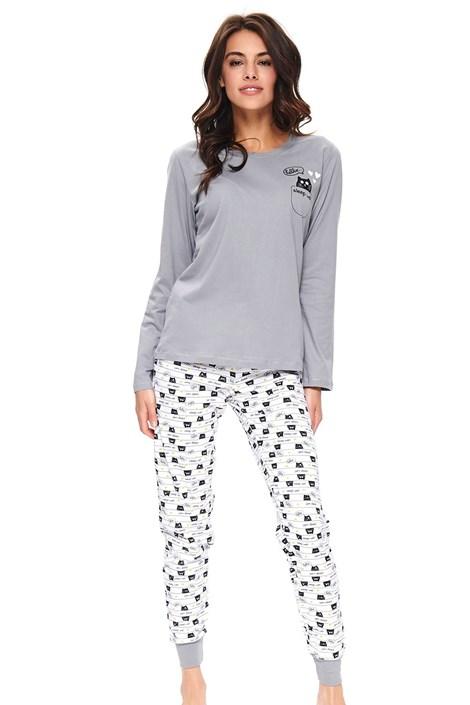 Doctor Nap Dámské pyžamo Kitties šedá XL