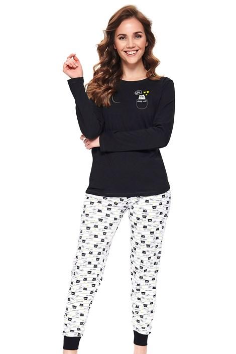 Doctor Nap Dámské pyžamo Kitties černá XL
