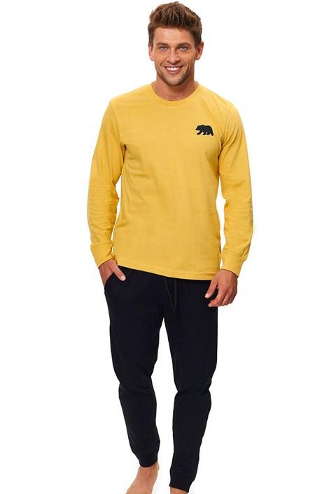 Doctor Nap Pánské pyžamo Comfy žlutá XXL