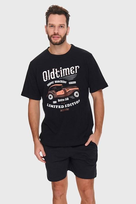 Czarna piżama Oldtimer