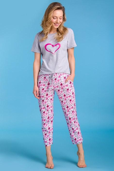 Passion Dámské pyžamo Pippa šedá XXL