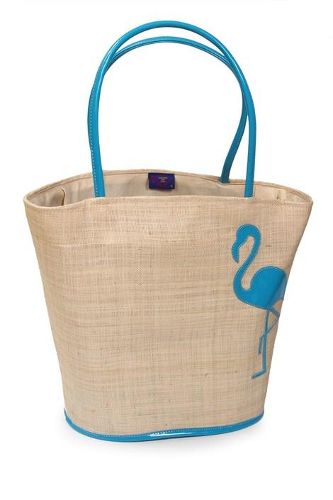 Le Comptoir De La Plage Velká plážová taška Flamingo béžová uni