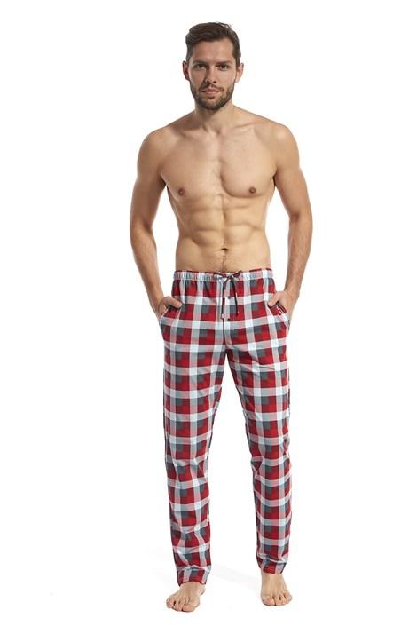 Cornette Pánské pyžamové kalhoty Filip šedočervená S