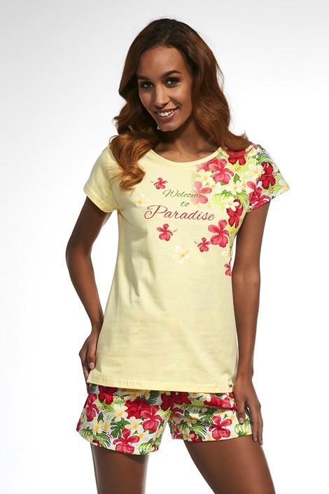Cornette Dámské pyžamo Paradise žlutá S