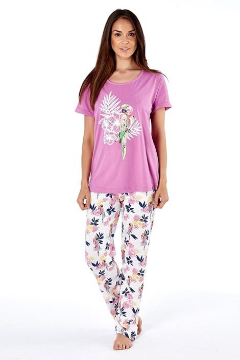 Selena Secrets Dámské bavlněné pyžamo Parrot pink růžová 8/10