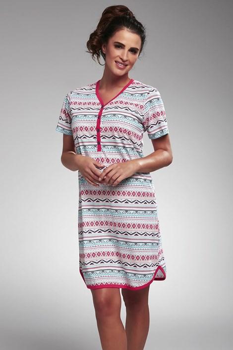 Cornette Dámská noční košile Paula barevná XL