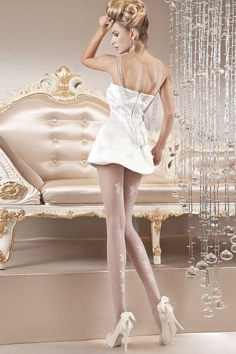 Ballerina Luxusní punčochové kalhoty Pearl 111 bílá L/XL
