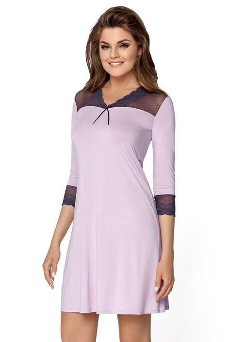Babella Dámská noční košilka Penelopa fialová XL