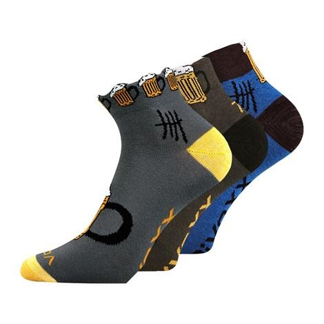 VOXX 3 pack ponožek Piff barevná 43-46