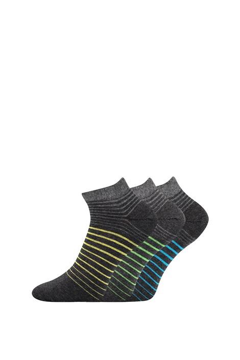 Boma 3 pack ponožek Piki 45 nízké šedá 43-46