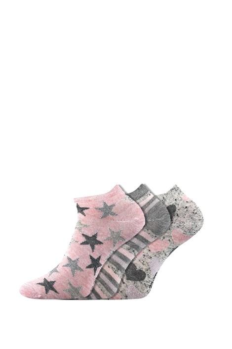 Boma 3 pack dámských ponožek Piki 46 nízké barevná 35-38