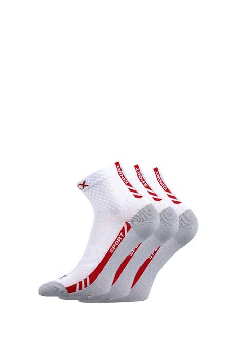 VOXX Univerzální sportovní ponožky Pius 3pack bílá 39-42