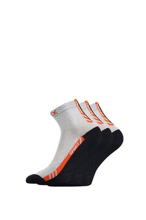 VOXX Univerzální sportovní ponožky Pius 3pack světlešedá 43-46