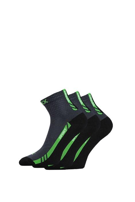 VOXX Univerzální sportovní ponožky Pius 3pack tmavěšedá 39-42