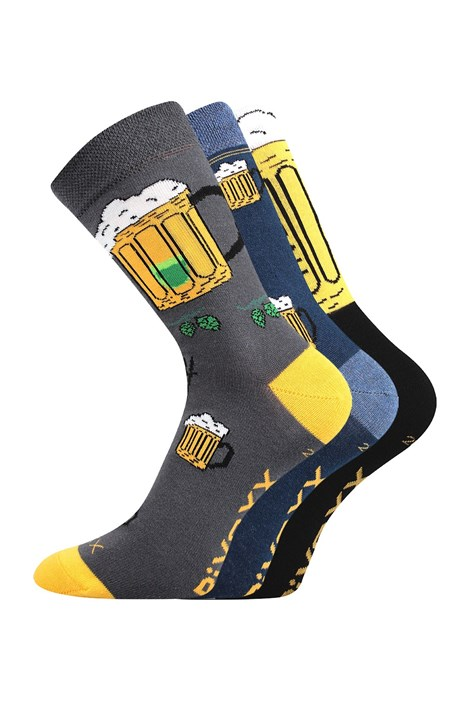 VOXX 3 pack pánských ponožek Pivoxx Mix5 barevná 43-46