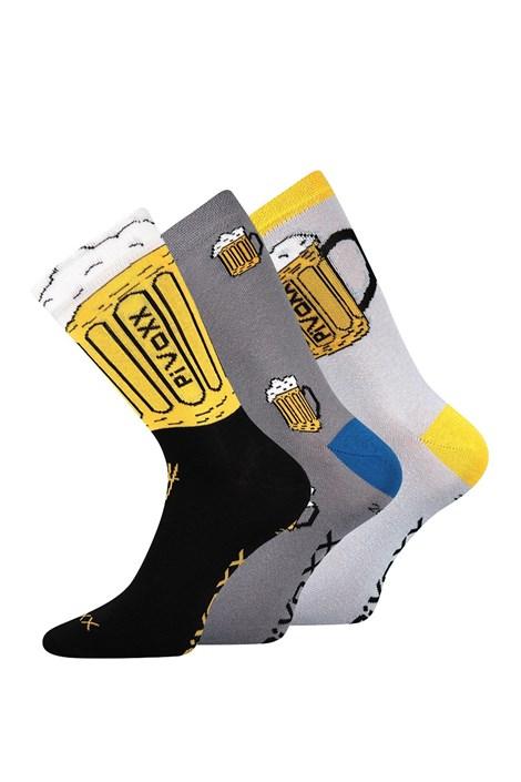 VOXX 3 pack ponožek Pivoxx barevná 47-50