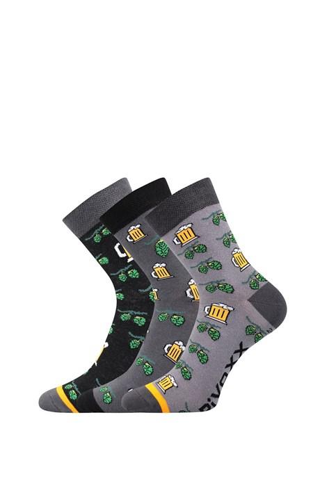 VOXX 3 pack pánských ponožek Pivoxx Mix3 barevná 47-50