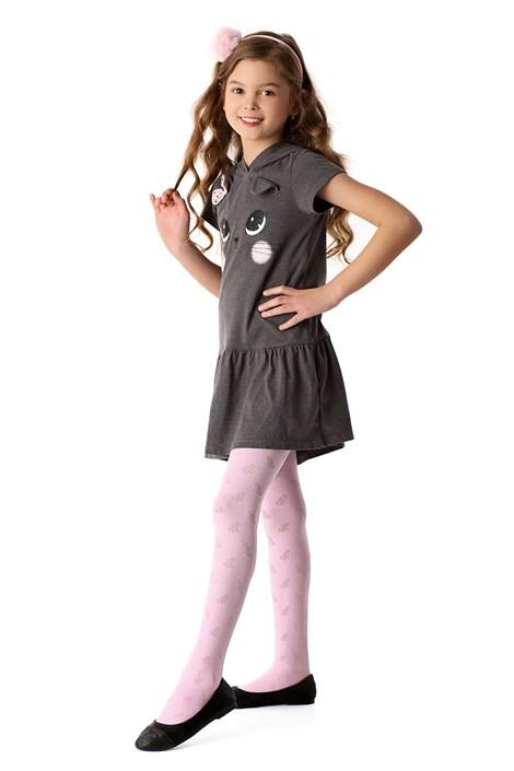 MONA Dívčí punčochové kalhoty Purrfection růžová 128/134