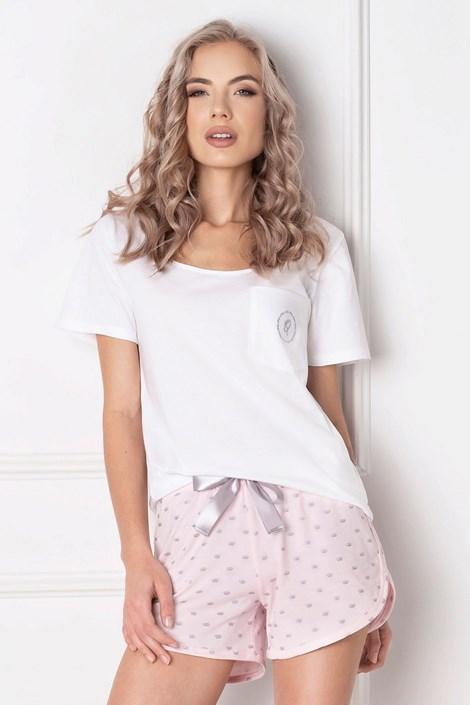 Aruelle Dámské pyžamo Queen krátké bílá XL