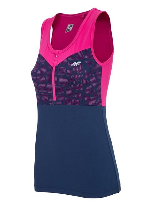 4F Dámské sportovní triko 4F Pink Dry Control bez rukávů fuchsie XS