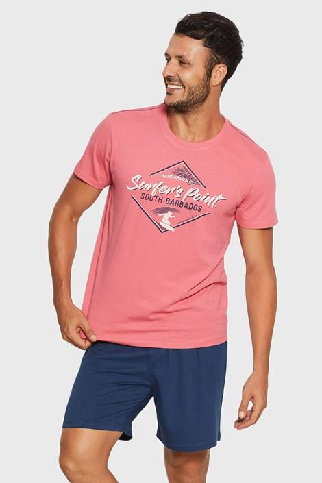 Henderson Růžovomodré pyžamo Raise korálová M