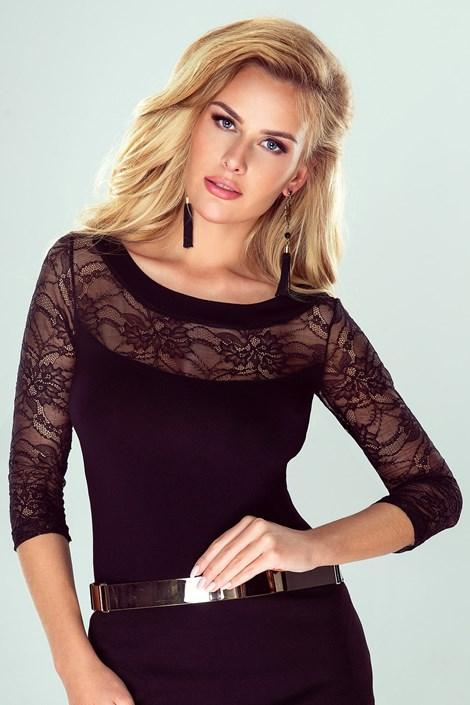 Eldar Dámské elegantní krajkové tričko Rakela černá L