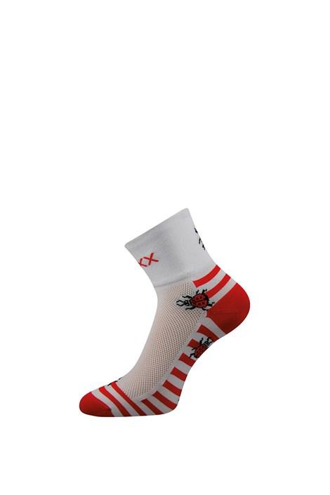VOXX Cyklo ponožky Ralf X různé vzory bíločervená 39-42