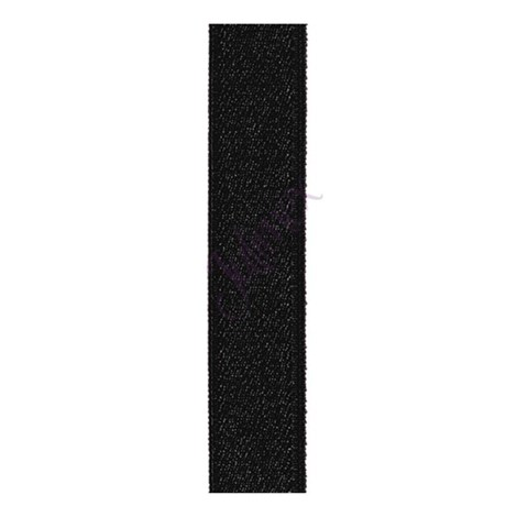 Julimex Textilní ramínka 18 mm černá černá uni