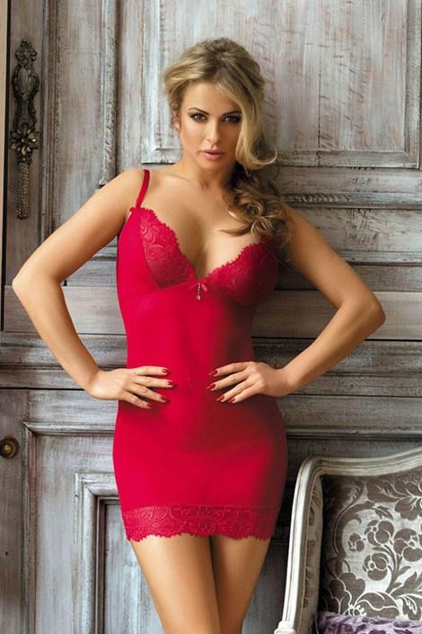 Excellent Beauty Svůdný komplet košilky a kalhotek Ramona červená S/M
