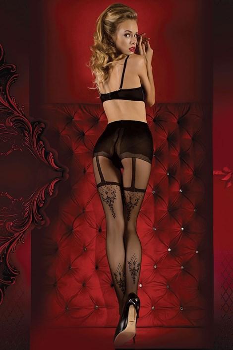 Ballerina Luxusní punčochové kalhoty Red Intense 347 černá S/M