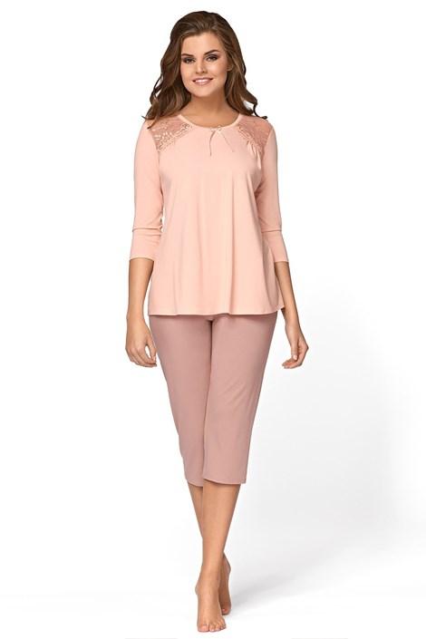 Babella Dámské pyžamo Regina broskvová XL