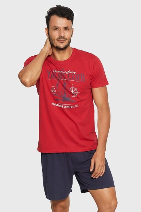 Henderson Červenomodré pyžamo Relax červená L